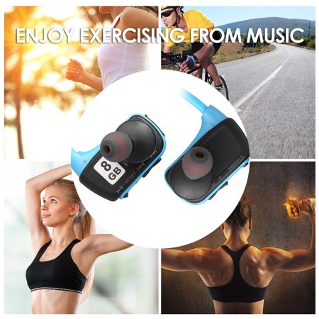 W273 8GB Sports MP3 Player Headphones 2in1 Music Headset MP3 WMA Digital Music Player Running Earphone - image 3 of 7