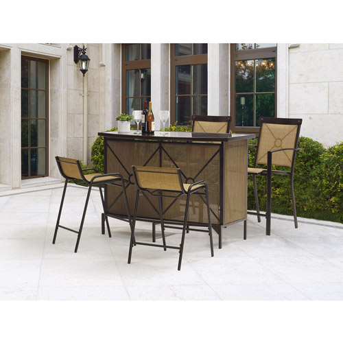 Amazing Mainstays Palmerton Landing Bar Height Patio Dining Set