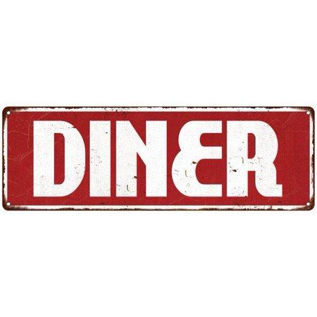 Diner Restaurant Diner Food Menu Vintage Look Metal Sign 6x18 Old Advertising Man Cave Game Room M6180990 - Halloween Restaurant Menu London