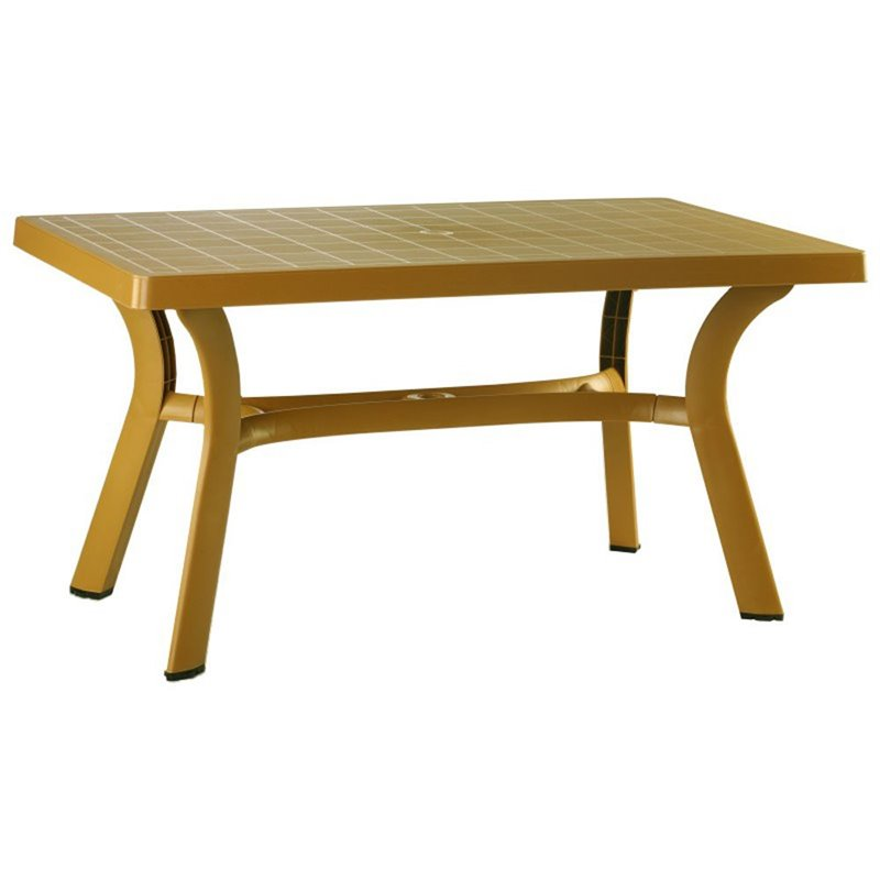 Compamia Sunrise Resin 55 in. Rectangle Patio Dining Table by Compamia