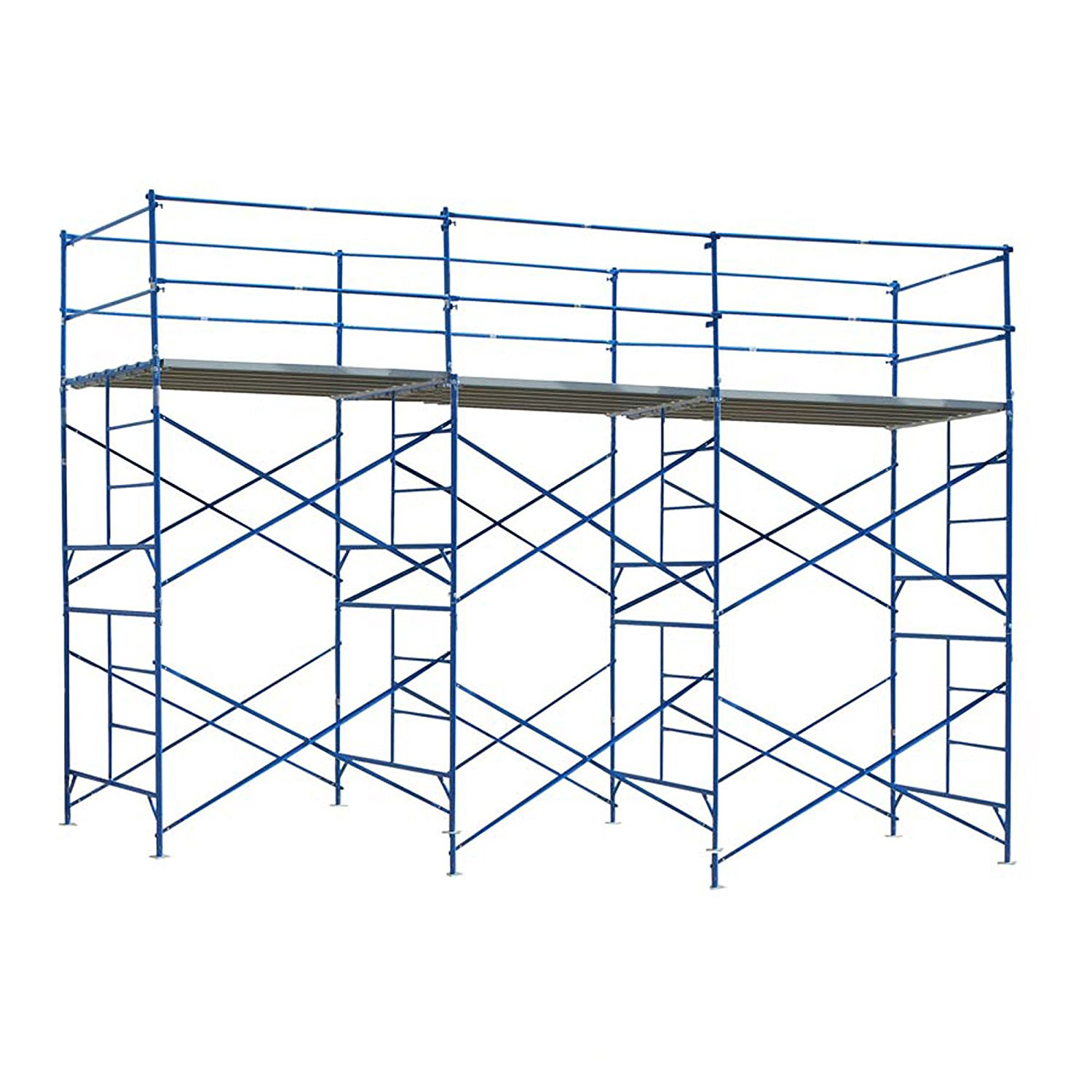 10 ft. x 21 ft. x 5 ft. 2-Story Commercial Grade Scaffold 1,500 lb. Load Capacity by New Buffalo Corp.