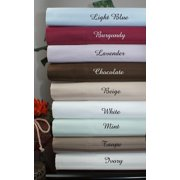 """1493-queen-taupe 21"""" Deep Pocket- 5 SIZES-1200TC Striped Egyptian Cotton Bed Sheet Sets"""