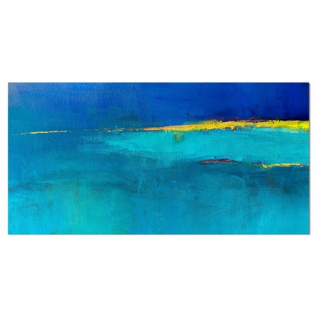 DESIGN ART Designart 'Colorful Abstract oil painting' Contemporary Painting Print on Wrapped Canvas Contemporary Chinese Oil Painting