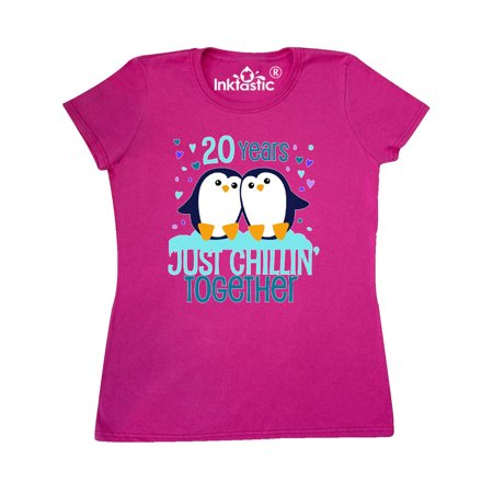 Twenty Years Just Chillin Together- cute penguins anniversary Women's (Chillin Flannel)