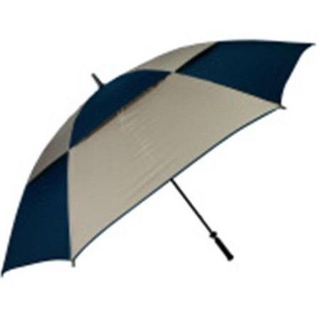 FJWestcott 8713 68 in. Double Canopy Hurricane Golf Umbrella - Navy and Tan