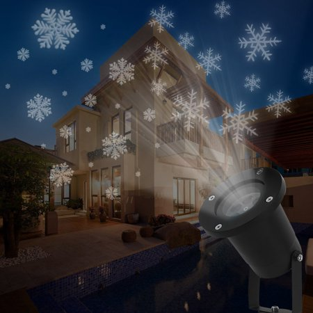 LED Snowfall Projector Lights Christmas Snowflake Projector Lamp Indoor Outdoor Waterproof Snow Falling Landscape Projection Light for Halloween Party Wedding Garden Decorations - Halloween Snow Globe Song