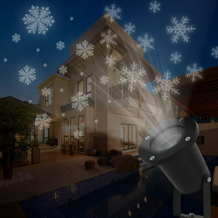 LED Snowfall Projector Lights Christmas Snowflake Projector Lamp Indoor Outdoor Waterproof Snow Falling Landscape Projection Light for Halloween Party Wedding Garden Decorations - Halloween Shadow Projection