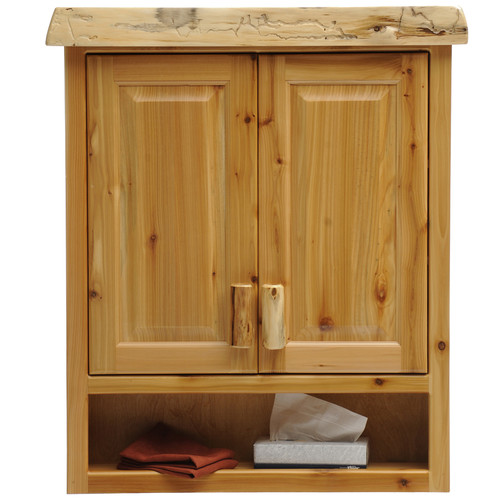 Fireside Lodge Cedar 32'' x 36'' Wall Mounted Cabinet
