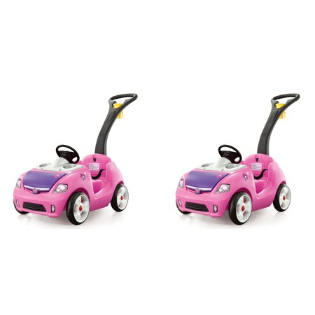 Pink Pouch - Step2 Toddler Children Whisper Ride On II Cruiser Buggy Push Pull Car (2 Pack)