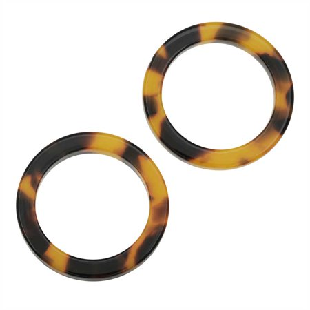 Zola Elements Acetate Connector Link, Circle 24mm, 2 Pieces, Brown Tortoise Shell