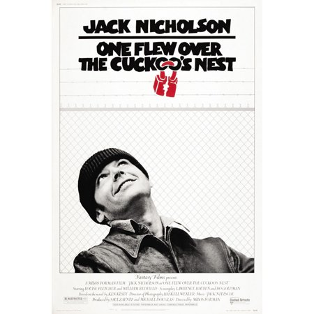 One Flew Over The Cuckoo's Nest - Movie Poster / Print (Regular Style - Jack Nicholson) (Size: 27