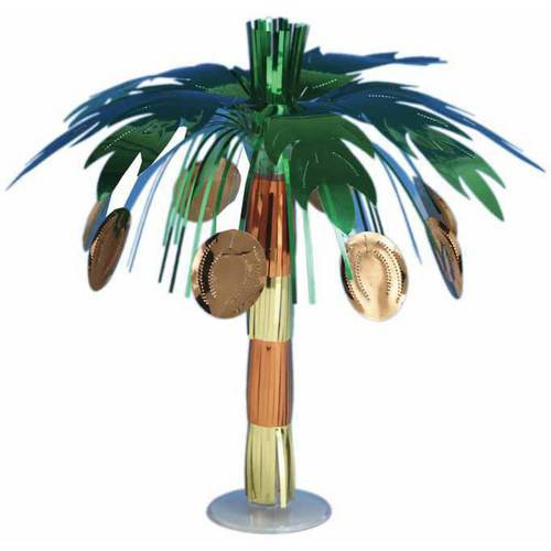 Luau Coconut Tree Mini Foil Centerpiece