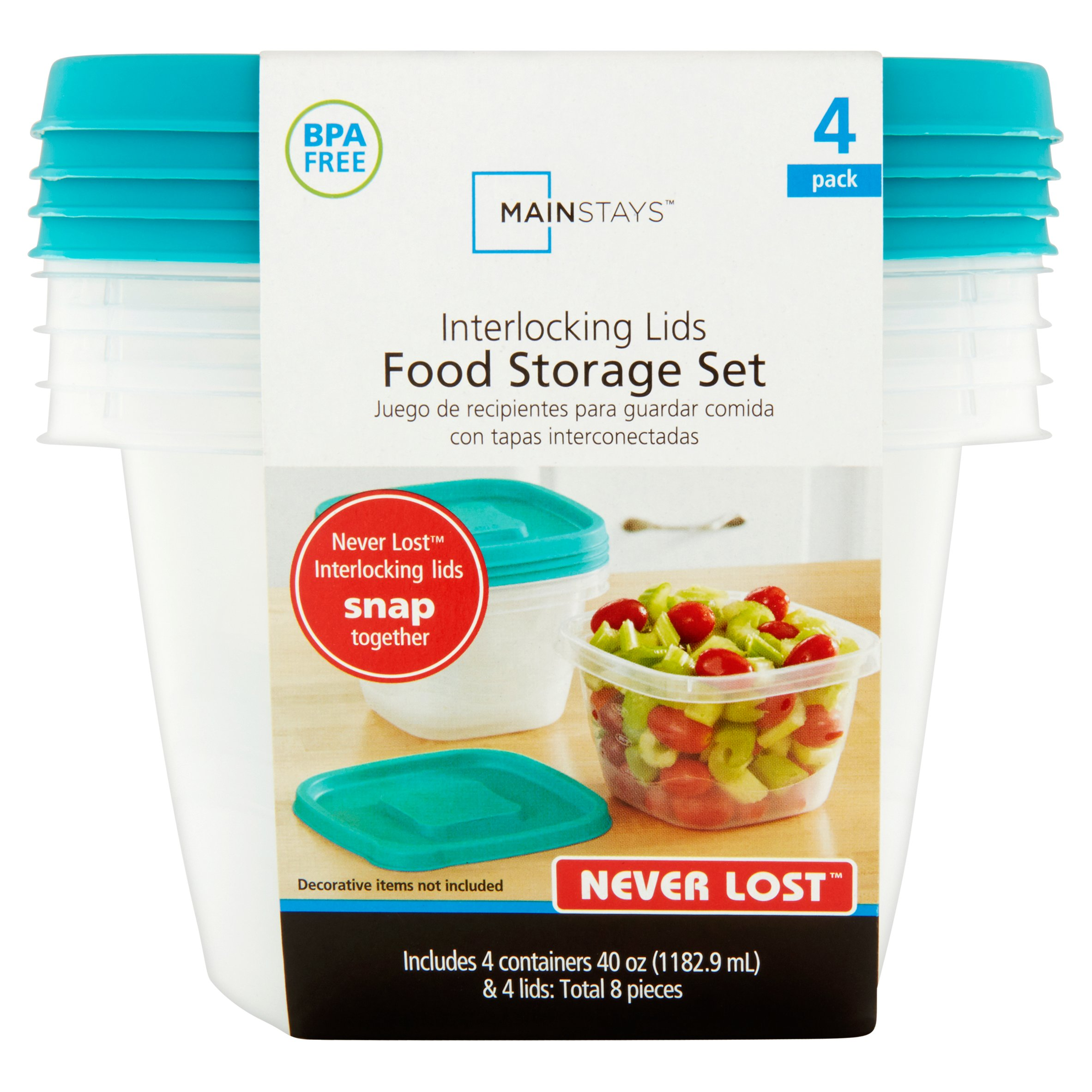 Mainstays Never Lost 5-Cup Square Food Storage Container