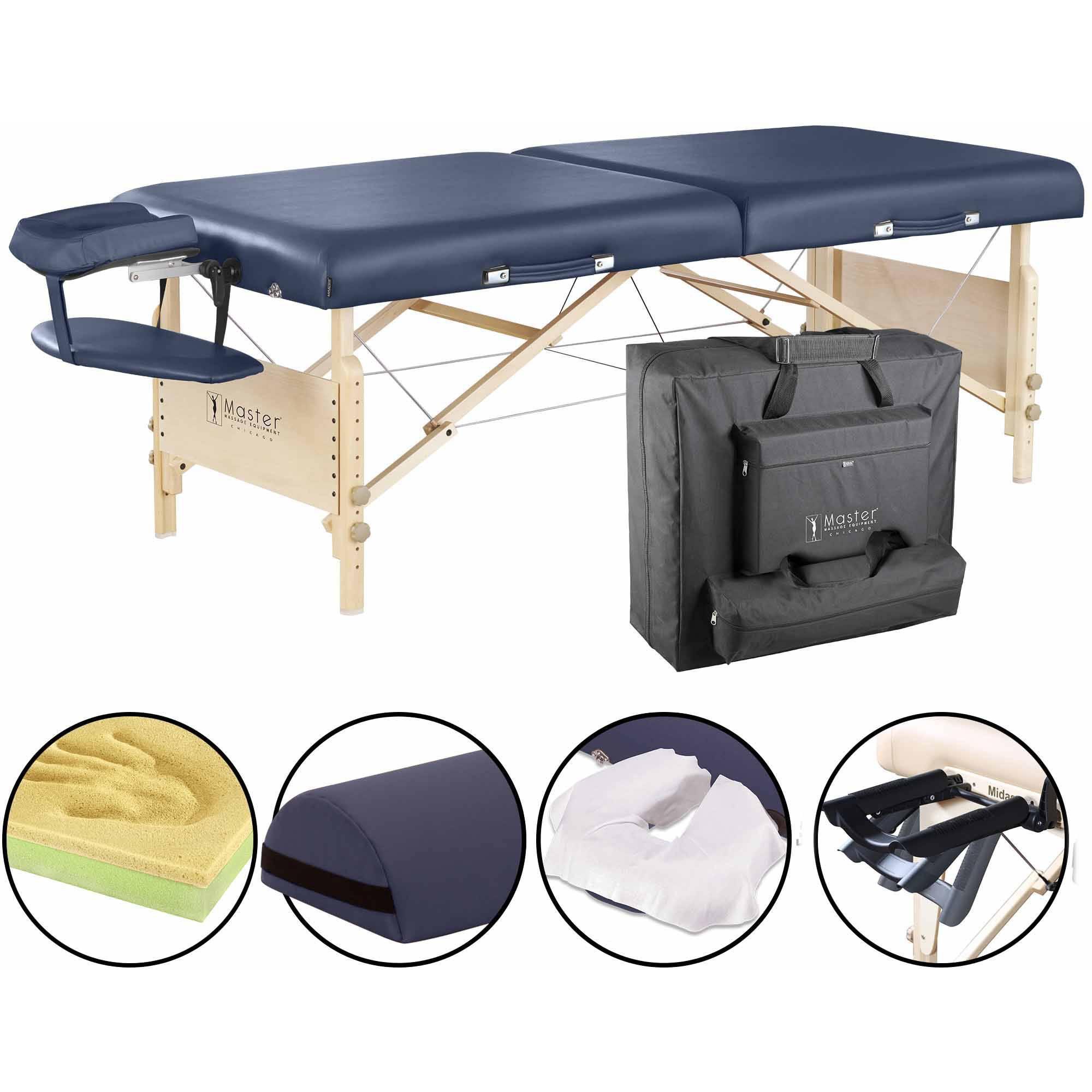 "Master Massage 30"" Coronado LX Massage Table Package, Blue"