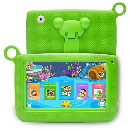 7 inch Kids Education Tablets Android 5.1 8GB, Kids Software Pre-Installed, Premium Parent Control, Educational Game Apps, WiFi, Bluetooth, I1181
