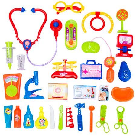 30pcs Kids Baby Doctor Medical Play Carry Set Case Education Role Play Toy Kit - Toy Doctor Kit