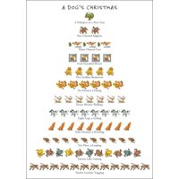 Allport Editions Dog's - 12 Days of Christmas Box of 15 Christmas Cards