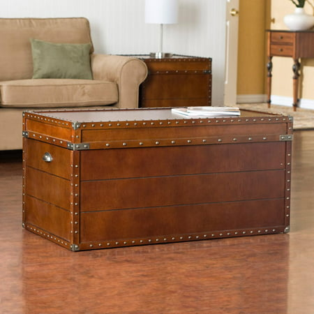 - Southern Enterprises Live Oak Trunk Coffee Table, Walnut