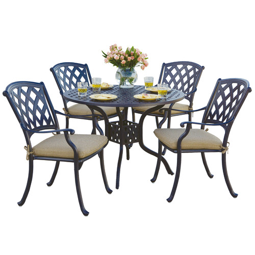 Fleur De Lis Living Campton 5 Piece Dining Set with Cushion