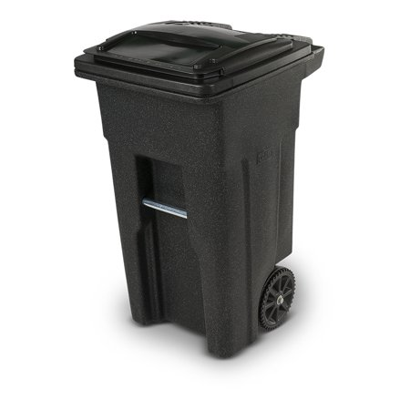Toter 32 Gallon 2-Wheel Trash Can Cart, Blackstone