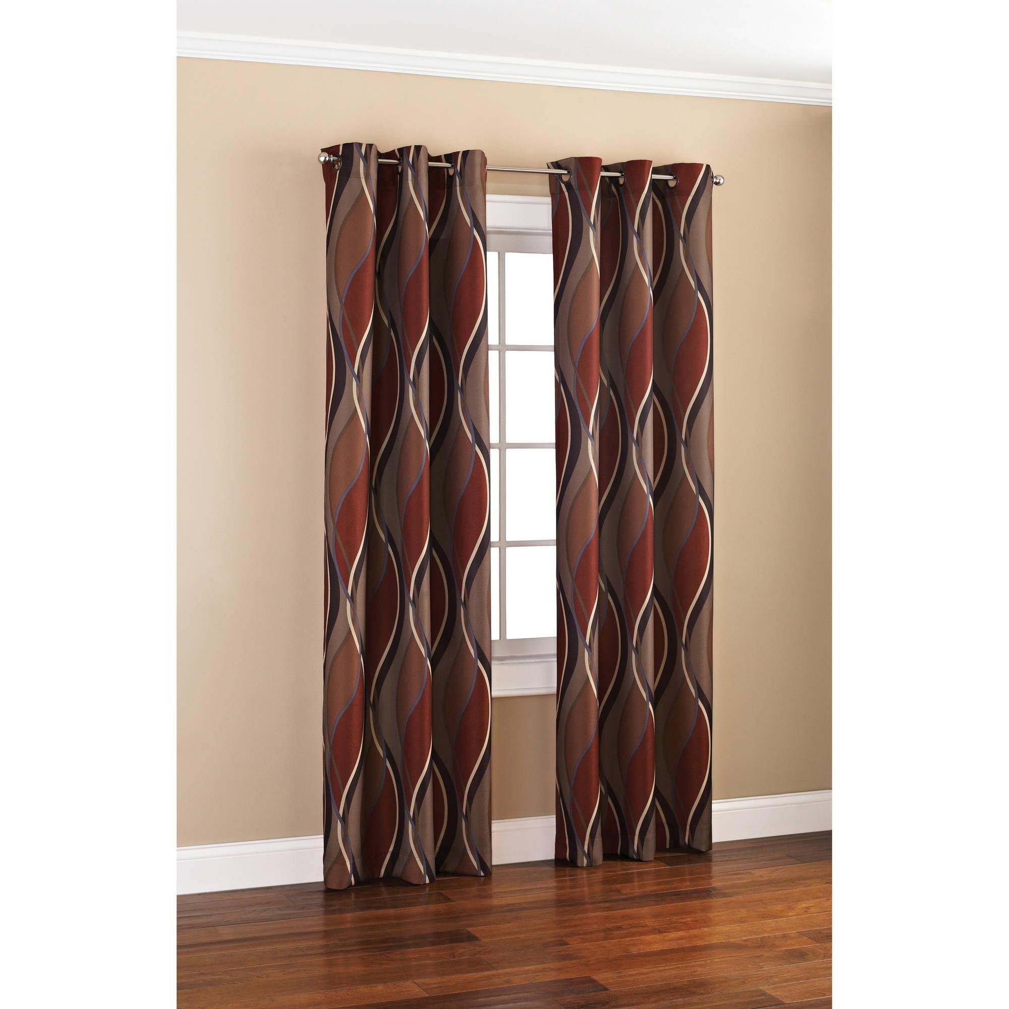 Mainstays Wave Print Casual Curtain Panel   Walmart.com