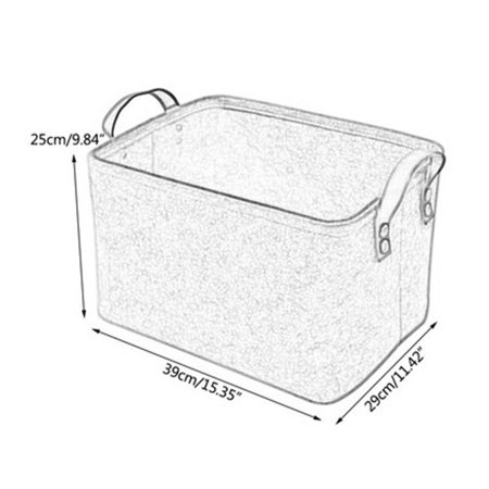 Brand New Desktop Felt and Other Storage Bags Foldable Laundry Basket Felt Storage Bucket Black Grey Household - image 4 de 6