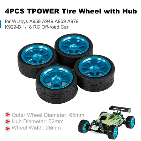 4PCS TPOWER Tire Wheel with Hub for WLtoys A959 A949 A969 A979 K929-B 1/18 RC Off-road Car - image 7 of 7
