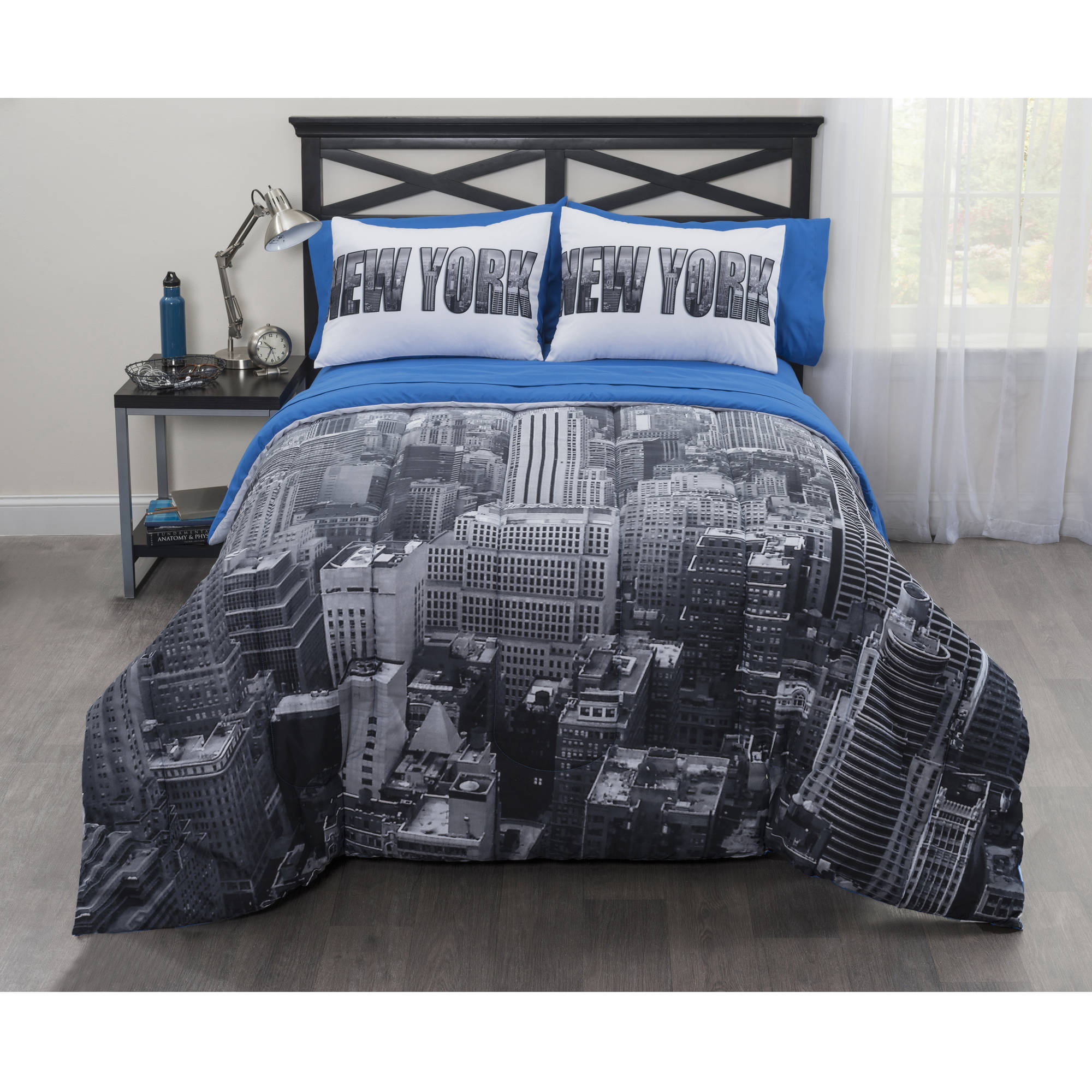 CASA real New York City Bed In A Bag forter Set Walmart