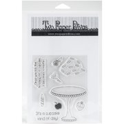 """Two Paper Divas Clear Stamps 8.5""""X4.5""""-Large Cupcake Accessories"""