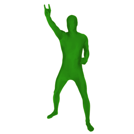 SKINZ ADULT MORPH BODYSUITS SPANDEX BLEND - Adult Green Small - Glow In The Dark Onesie For Adults
