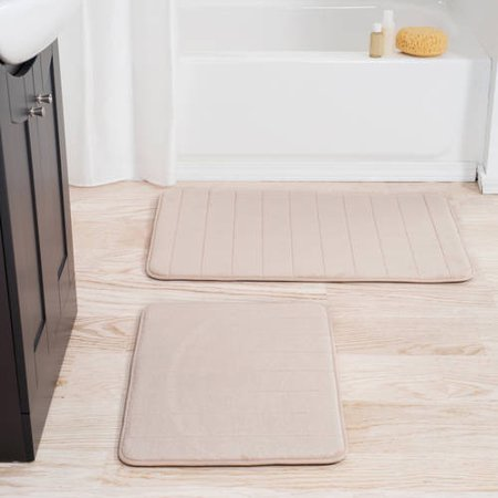 Dover 2 Light Bath (Somerset Home 2-Piece Memory Foam Striped Bath Mat)