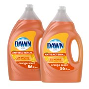 Dawn Ultra Antibacterial Liquid Dish Soap, Orange Scent, 2 Ct, 56 Fl Oz each