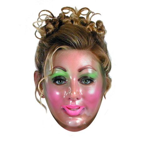 Plastic Young Female Transparent Mask Halloween Accessory