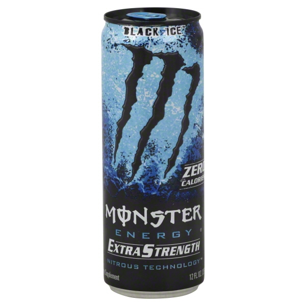 Monster Black Ice Energy Drink, 12 oz