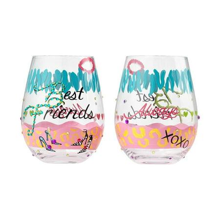 Lolita 6001622 Best Friends Stemless Wine Glass