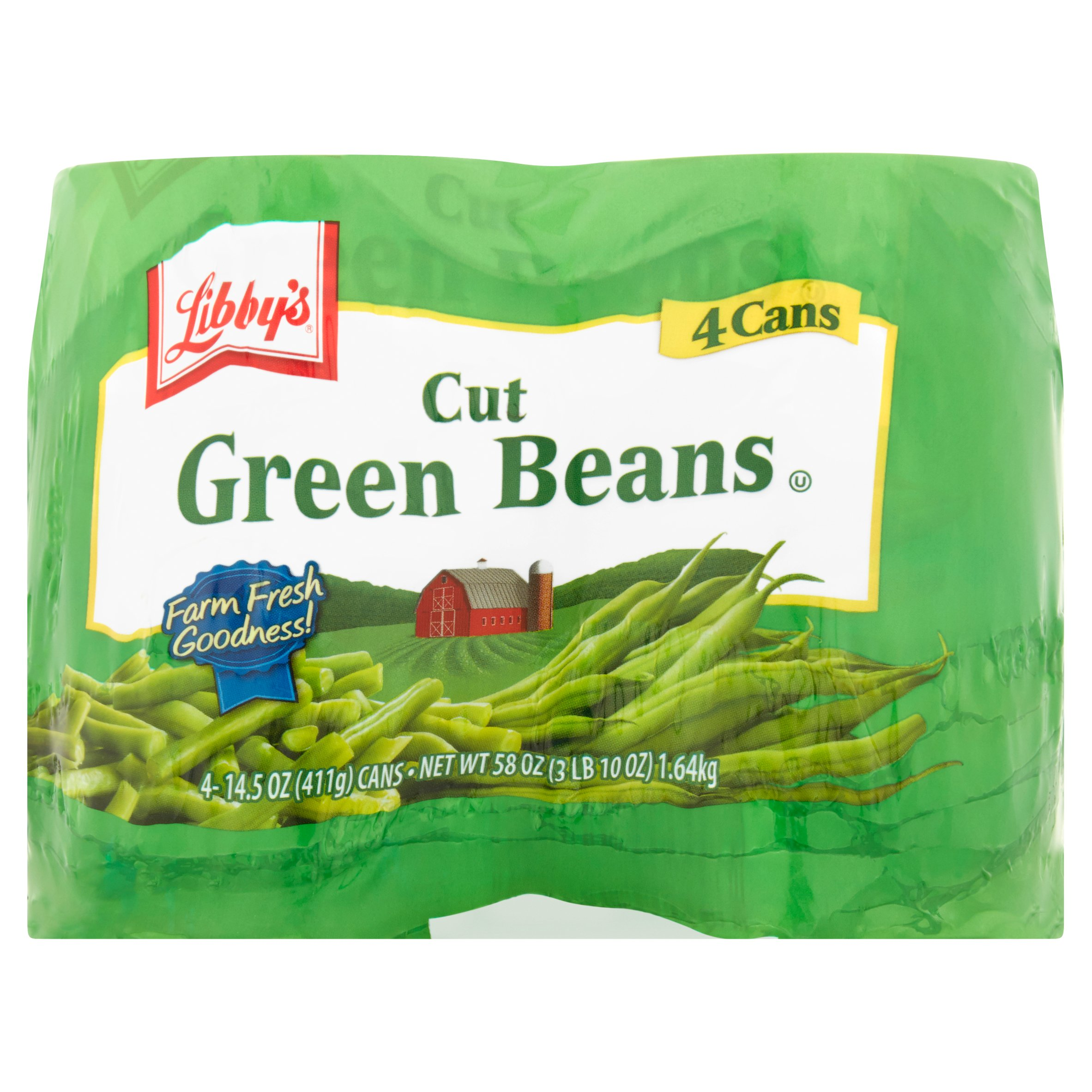 Libby's Cut Green Beans, 14.5 Oz, 4 Cans