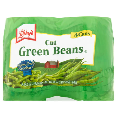 (8 Cans) Libby's Cut Green Beans, 14.5 Oz - French Cut Green Beans
