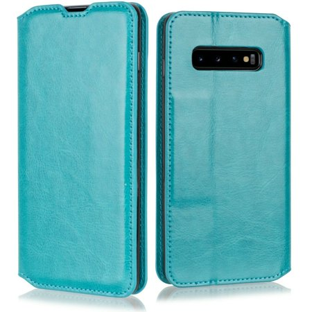 "for 5.8"" Samsung Galaxy S10e Deluxe PU Leather Foldable Kickstand Hybrid Pouch Pocket ID and Credit Card Slot Shockproof Flip Bumper Magnetic Wallet Phone Case [Teal]"