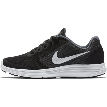Nike Kids Revolution 3 Dark Grey/White/Black/Pure Platinum Girls