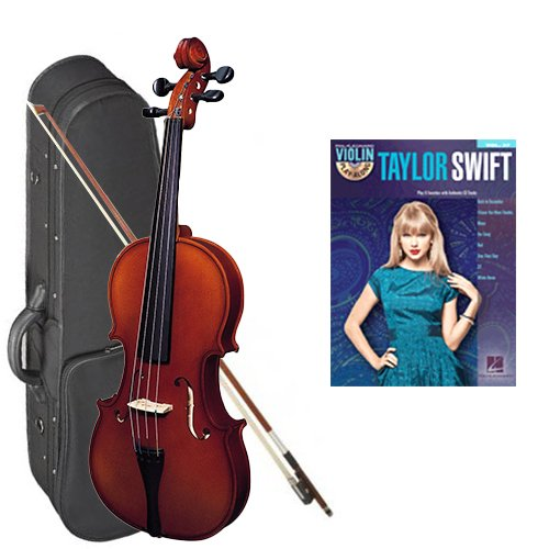 Strunal 220 Student Violin Taylor Swift Play Along Pack - 3/4 Size European Violin w/Case & Play Along Book