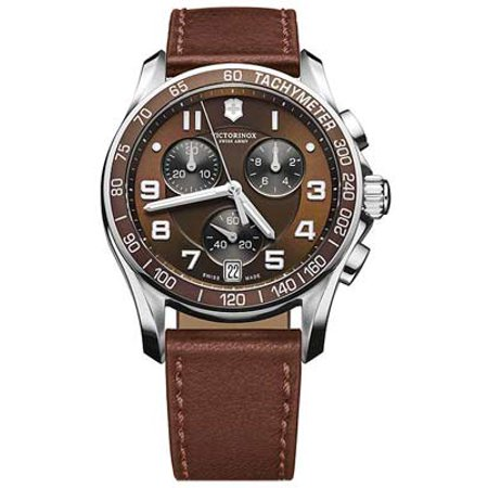 Swiss Army Mens Chrono Classic - Espresso Dial and Leather Strap - Date Window