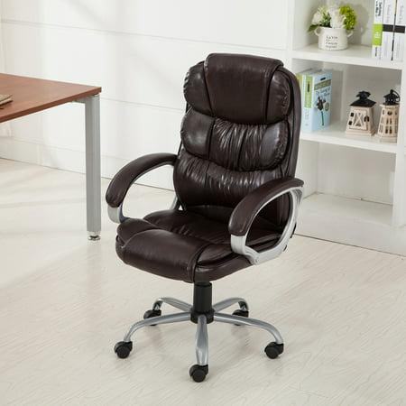 Belleze Executive Office Chair Ergonomic Padded Armrest Computer Chair Desk, (Arm Mocha Flower)