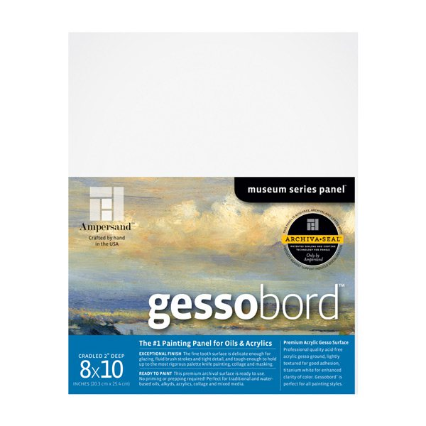 "Ampersand Art - Gessobord - Cradled - 2"" Profile - 8"" x 10"""