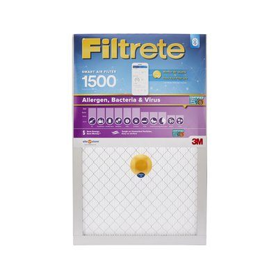 Filtrete Smart 16 x 25 x 1 inch Allergen, Bacteria & Virus HVAC Air and Furnace Filter, 1500 MPR, 1 Filter