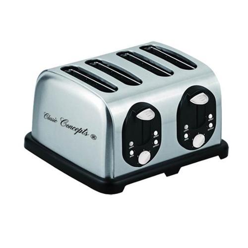 Classic Concepts TO110A 4 Slice Stainless Steel Toaster, 110V
