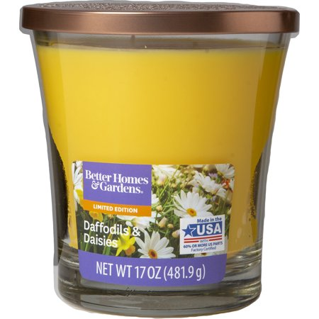 Better Homes & Gardens Daffodils and Daisies Candle, -