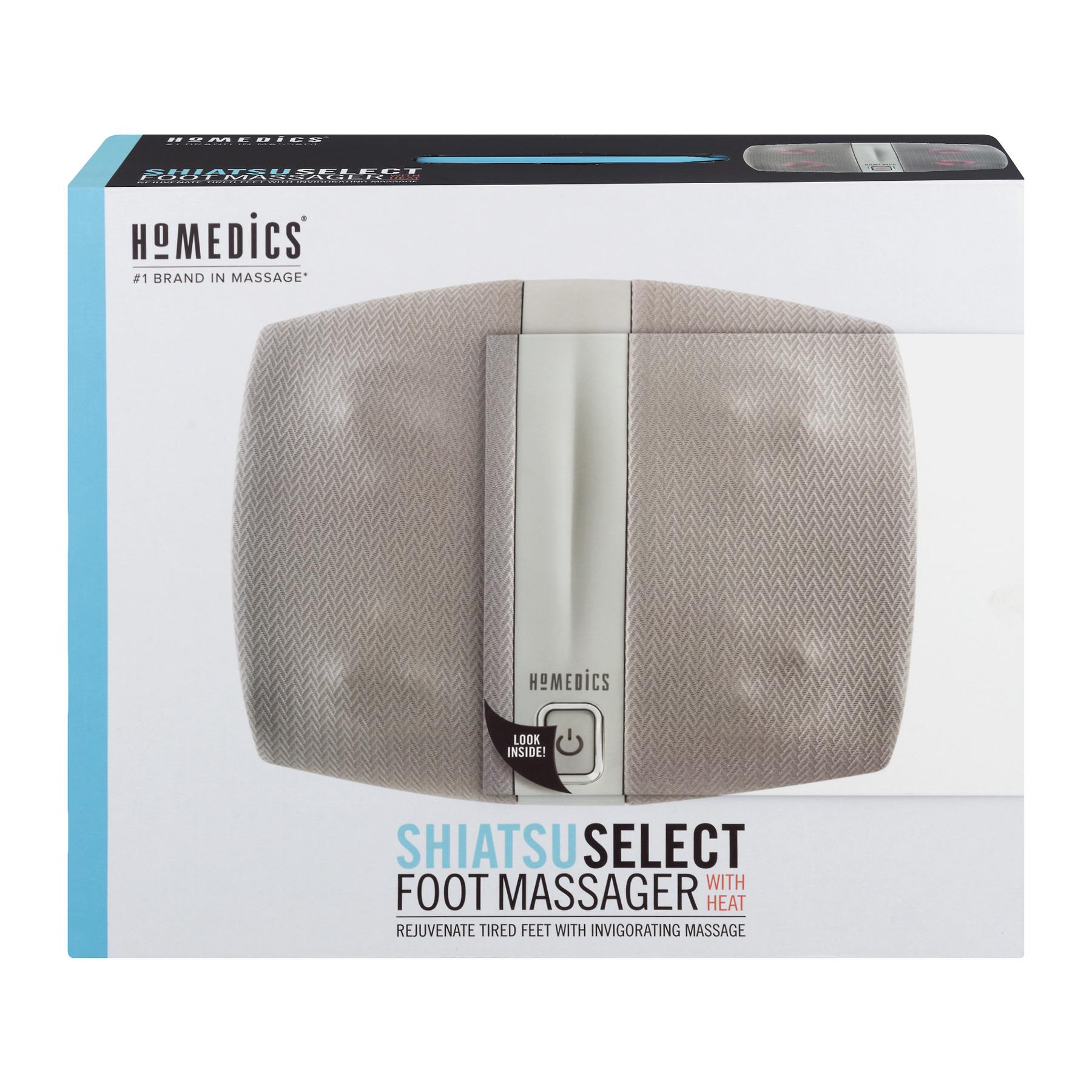 HoMedics Shiatsu Select Foot Massager with Heat, Deep Kneading And Relaxing Massage, FMS-255H