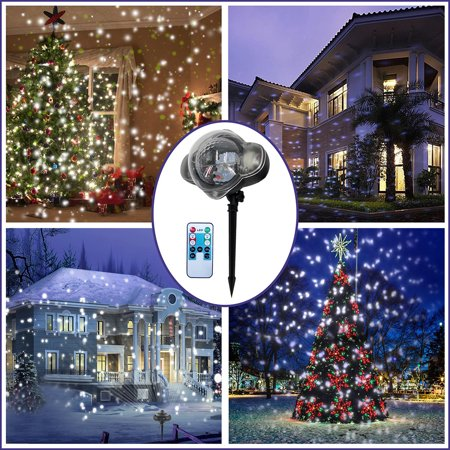 Snowfall Snow Flake Christmas Outside House LED Projector Light Project (Best Christmas Lights For Outside House)
