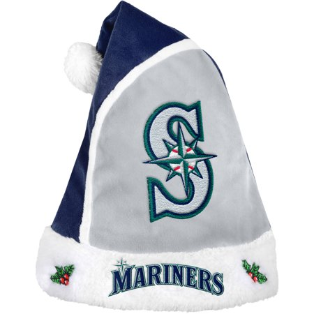 Mlb Colored Collectibles (Forever Collectibles MLB 2015 Santa Hat, Seattle Mariners)