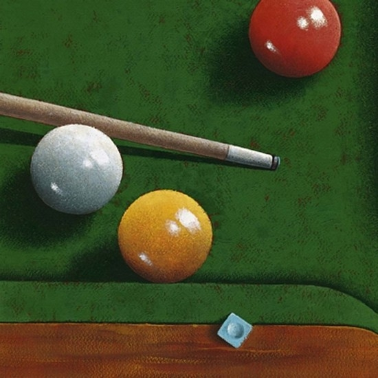 Billiards Poster Print by Bill Romero (19 x 19)